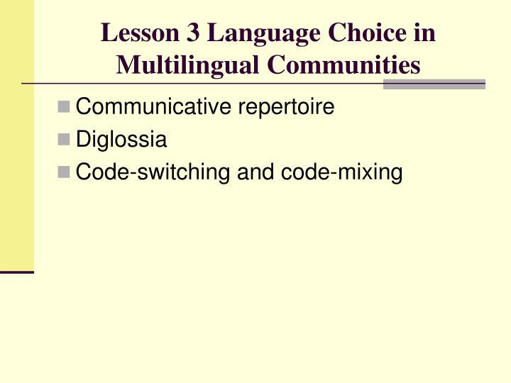 code switching multilingualism and language