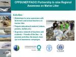 cpps unep fao ci partnership to raise regional awareness on marine litter