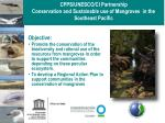 cpps unesco ci partnership conservation and sustainable use of mangroves in the southeast pacific