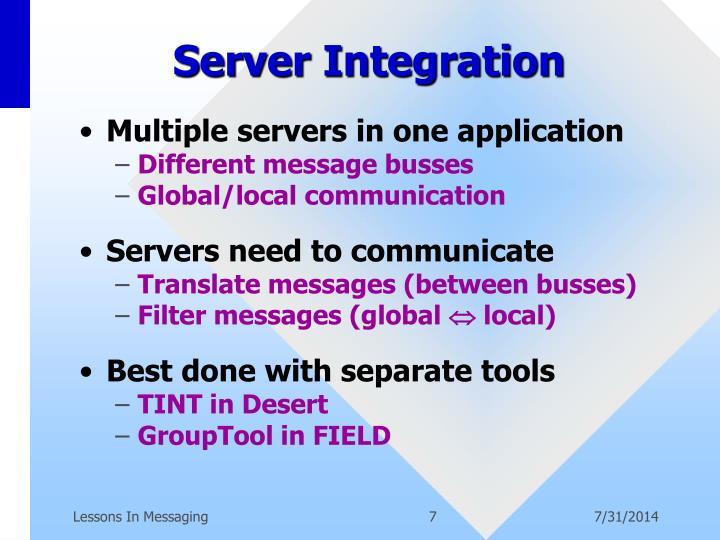 Server Integration