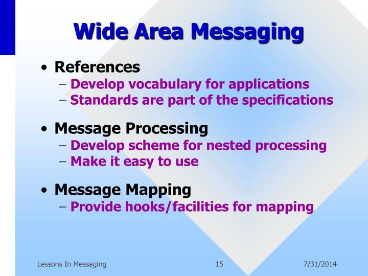 Wide Area Messaging