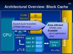 architectural overview block cache3