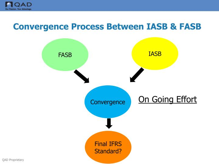 iasb equivalents of fasb original pronouncements And, both standard setters, iasb (international accounting standards board) and fasb (financial accounting standards board), initiated a convergence project even before ifrs was actually adopted by many countries.