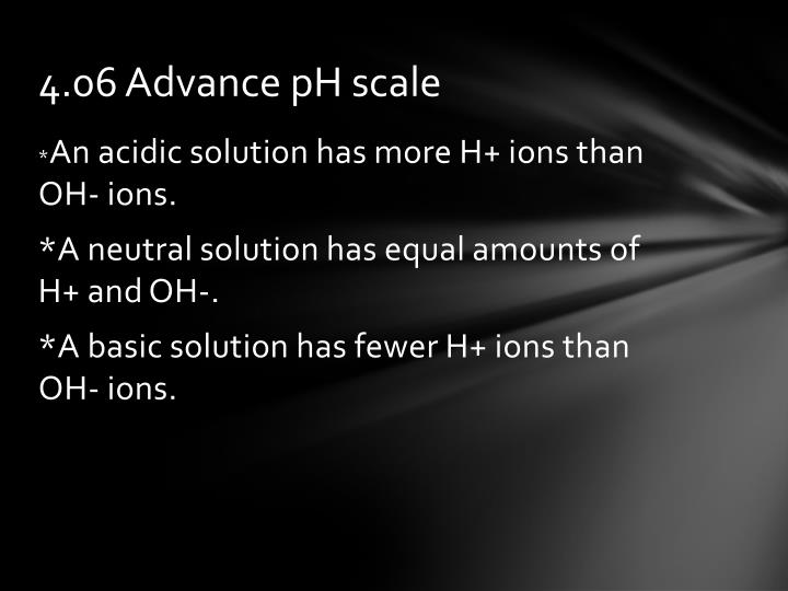4.06 Advance pH scale