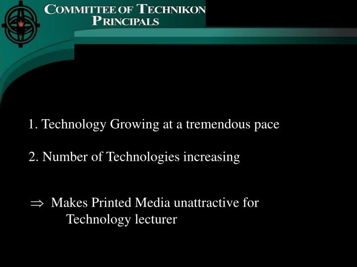 1. Technology Growing at a tremendous pace