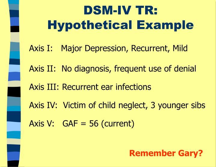 DSM-IV TR: