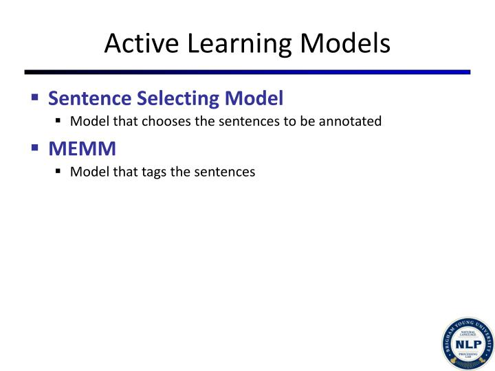 Active Learning Models