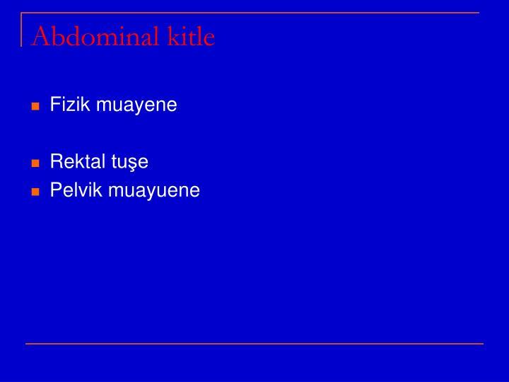 Abdominal kitle