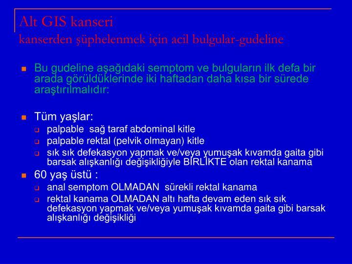 Alt GIS kanseri