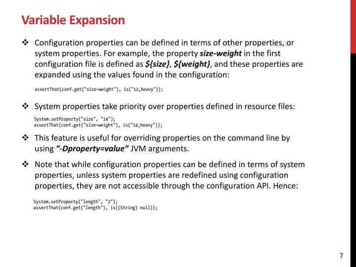 Variable Expansion