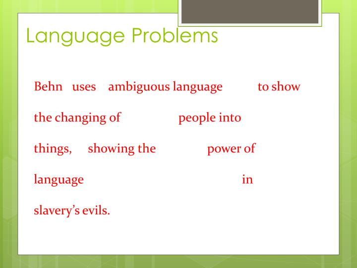 Language Problems