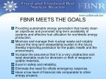 fbnr meets the goals