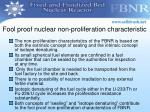 fool proof nuclear non proliferation characteristic