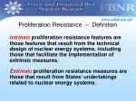proliferation resistance definition1