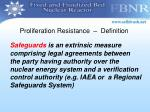 proliferation resistance definition2