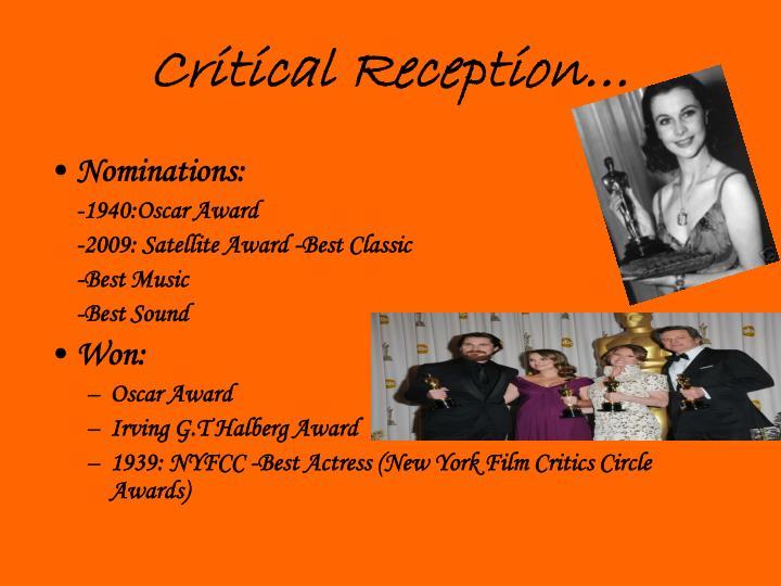 Critical Reception…