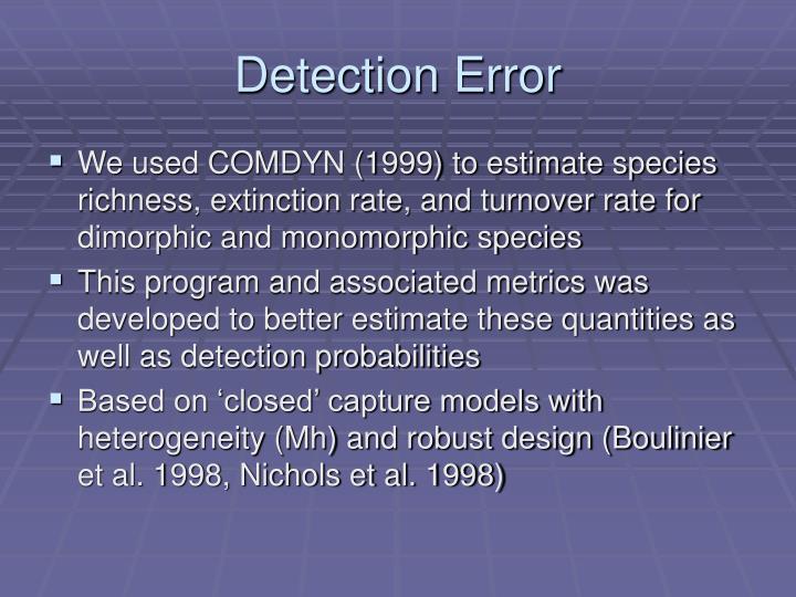 Detection Error