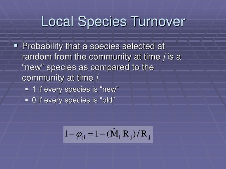 Local Species Turnover