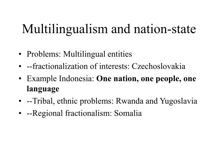 Multilingualism and nation-state