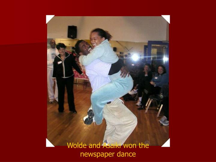 Wolde and Asaiki won the newspaper dance