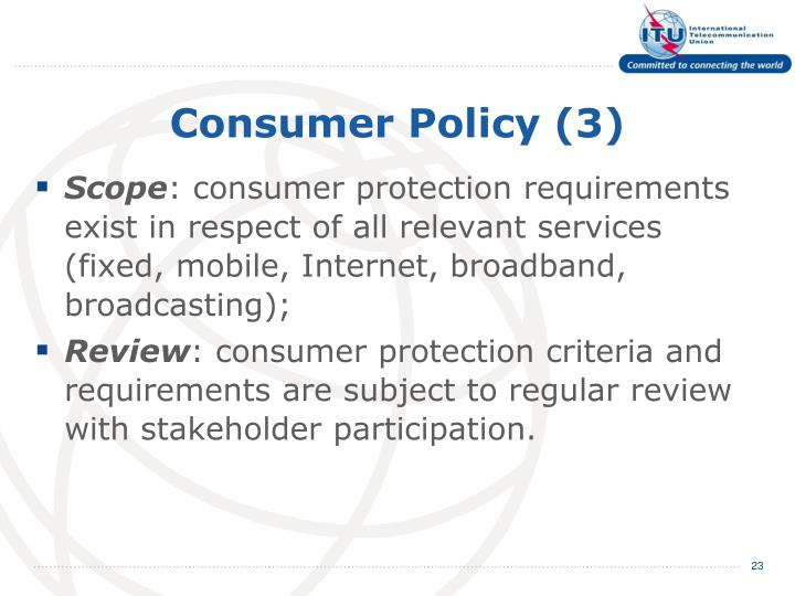 Consumer Policy (3)