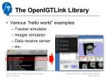 the openigtlink library2
