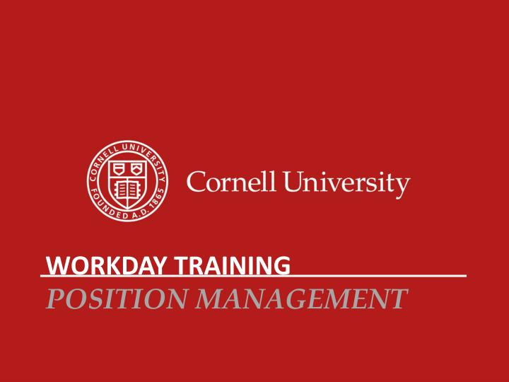 workday training position management n.