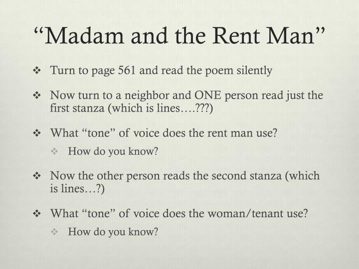 Madam and the rent man