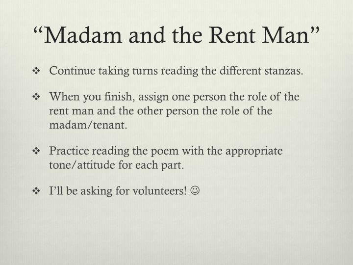 """Madam and the Rent Man"""