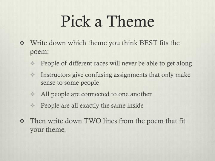 Pick a Theme