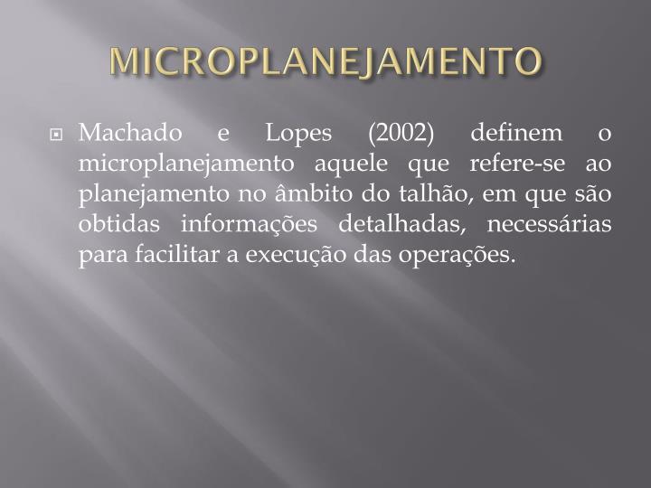 MICROPLANEJAMENTO