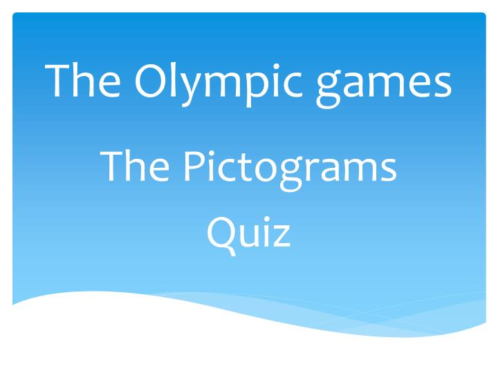 the olympic games n.