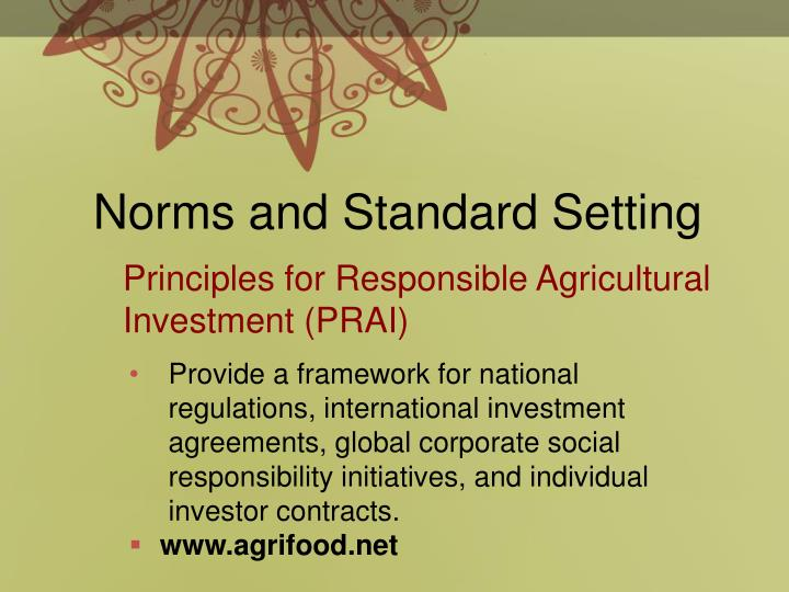 Norms and Standard Setting