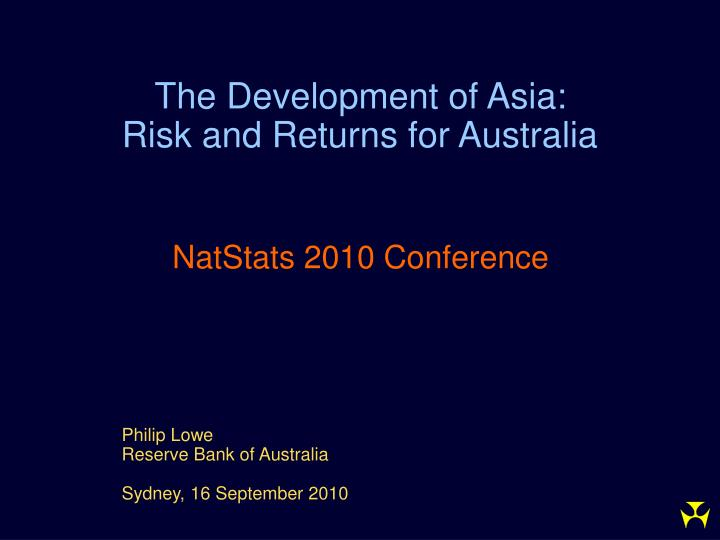 The Development of Asia: