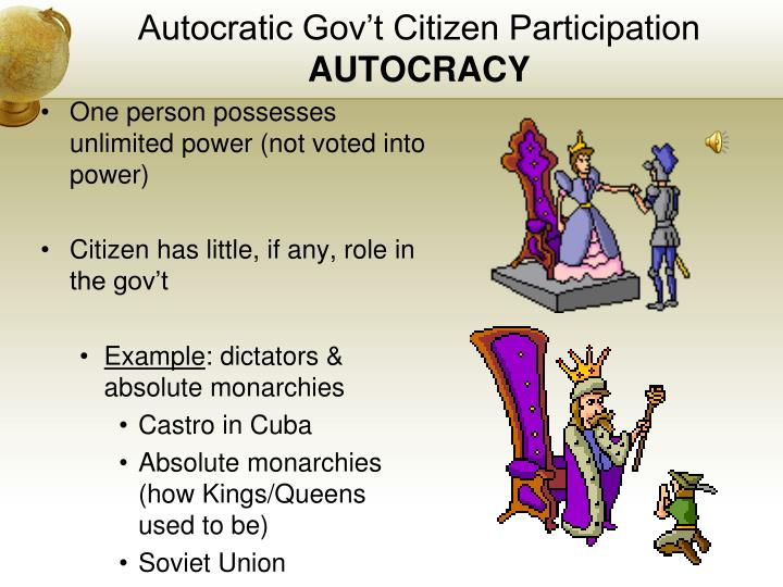 example of a autocracy