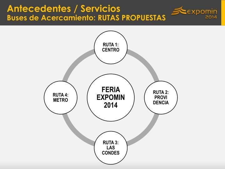 Antecedentes / Servicios