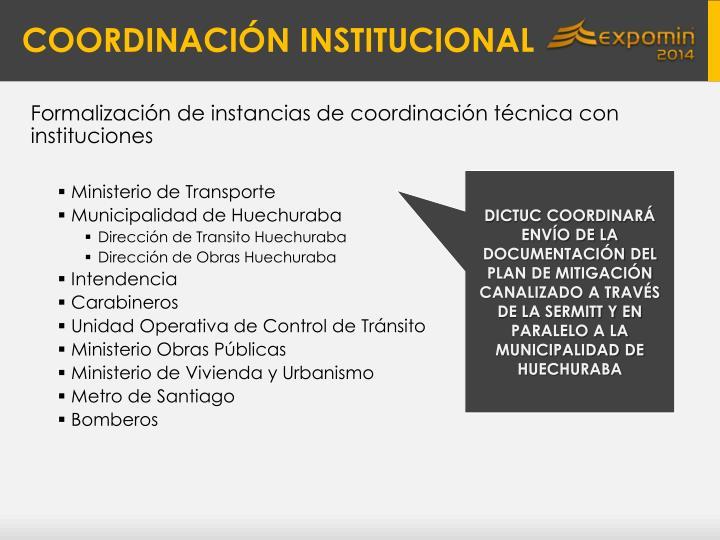 Coordinaci n institucional