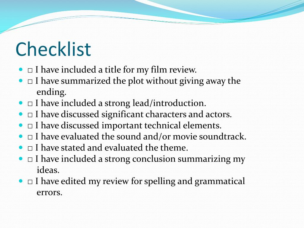 Ppt How To Write A Film Review Powerpoint Presentation Free Download Id 2698450