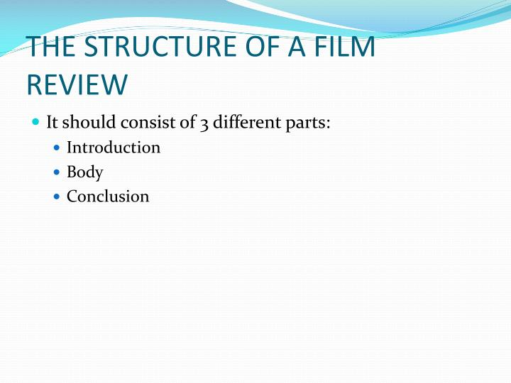parts of film review