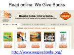 read online we give books