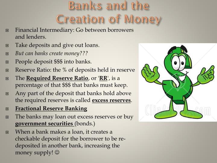 banks and the creation of money n.