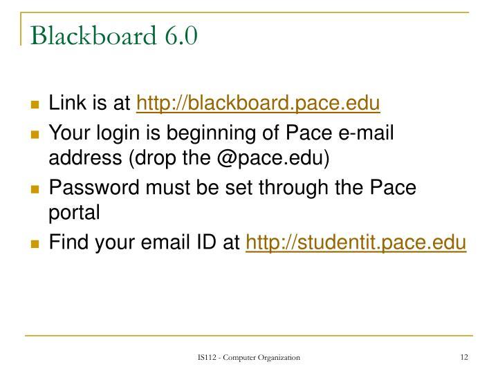 Blackboard 6.0