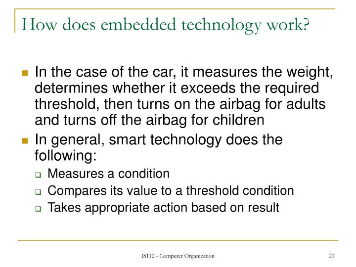 How does embedded technology work?