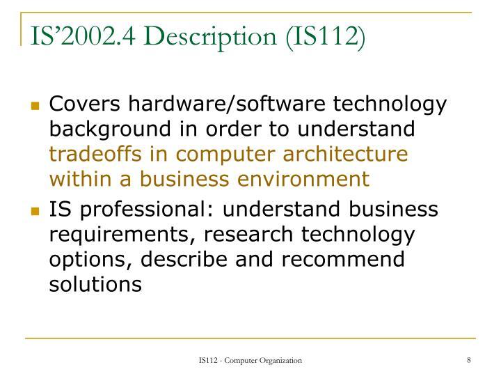 IS'2002.4 Description (IS112)