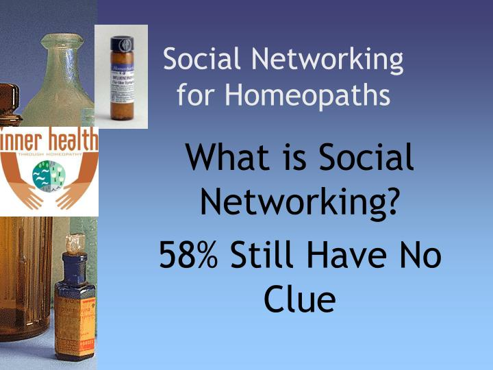 social networking for homeopaths n.