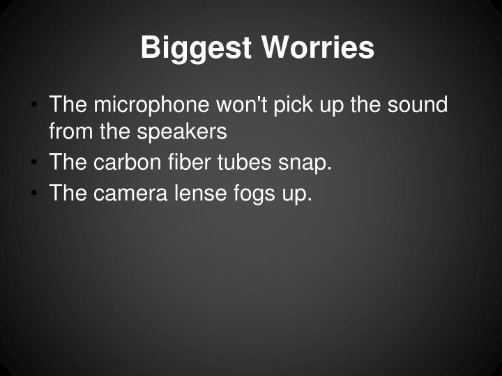 Biggest Worries