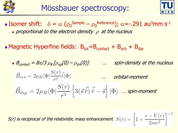 Mössbauer spectroscopy: