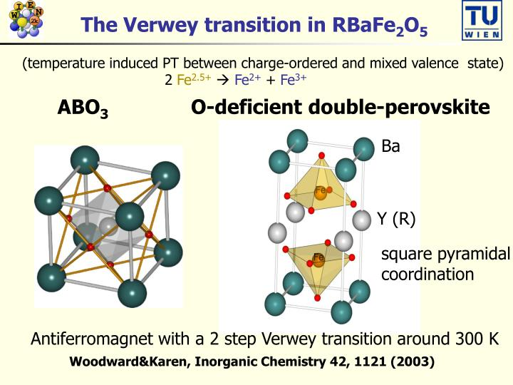 The Verwey transition in RBaFe