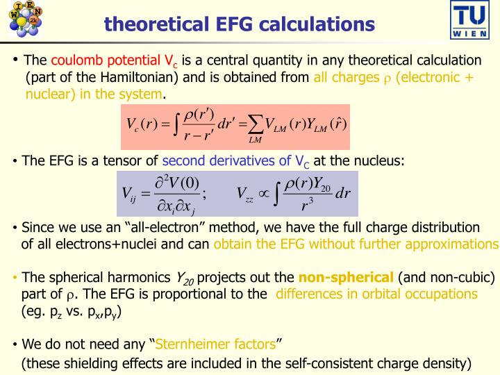 theoretical EFG calculations