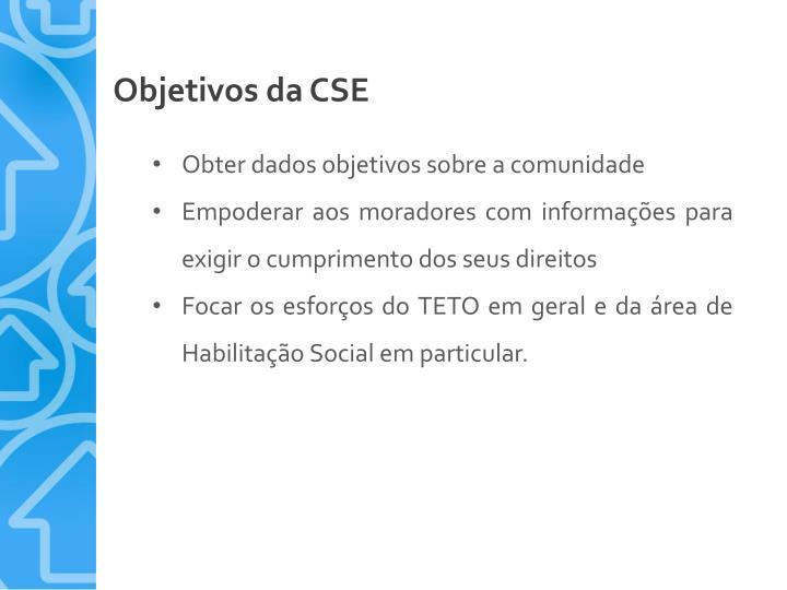 Objetivos da CSE